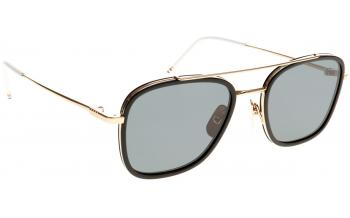 89335c72eaf9 Out of Stock - Due in > 4 weeks. Frame: Matte black and 12k gold. Lens: Dark  grey. Sunglasses. Thom Browne TB-800