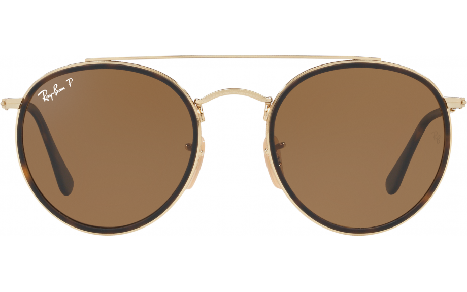 b5139865f9b8 Ray-Ban Round Double Bridge RB3647N 001 57 51 Sunglasses - Free ...
