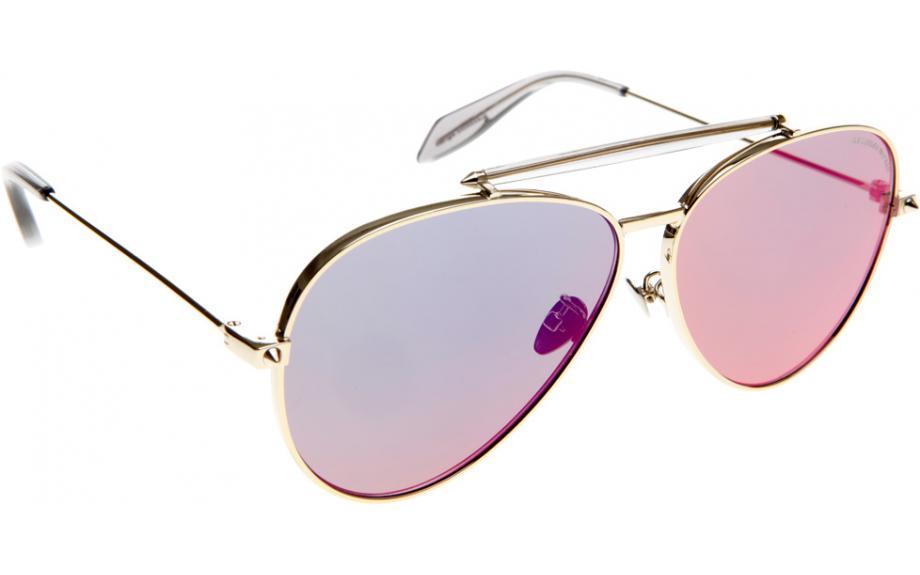 7c964fe90566 Alexander McQueen AM0057S 004 62 Sunglasses - Free Shipping